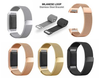 Milanese Loop Watch Band stainless steel Magnetic Strap For Fitbit Charge 2