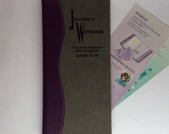 JW Purple and Grey Tract Holder