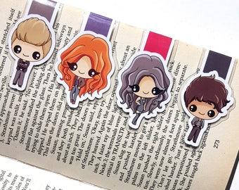 Shadowhunters, shadowhunters magnetic bookmark, magnetic bookmark, laminated bookmark