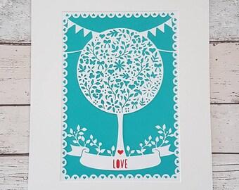 wedding papercut, anniversary papercut,personalised wedding papercut,love,hearts,keepsake, personalised wedding gift, Mr & mr, Mrs and Mrs