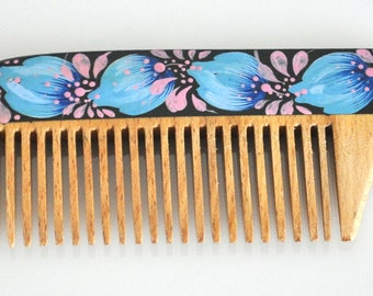 Hand-painted wooden comb / Hair Care /Accessories / Mother's Day gift / Gift for HER