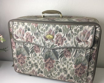80's Tapestry Rolling Suitcase