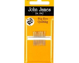 John James Needles - Big Eye Quilting Needles