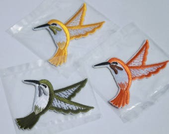 Iron-On Patch Humming Birds