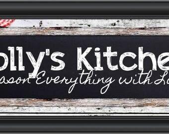 Kitchen Letter Art