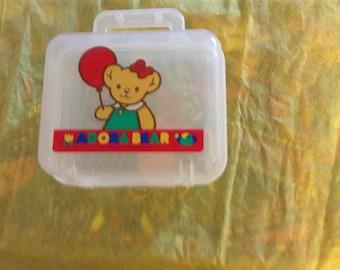 Vintage 1991 Sanrio Adorabear Plastic Container