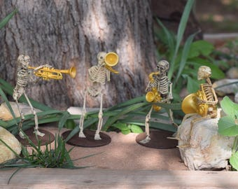 Miniature Skeleton Musical Band-4 Members