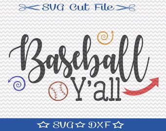 Baseball SVG / Baseball SVG Cut File / Baseball Player svg / Sports svg / Baseball Mom svg / svg for Baseball / Spring Training svg