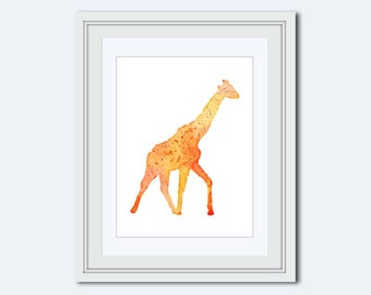 Giraffe printable - Safari Wall Art - Safari Nursery Decor - Jungle Wall Art - Giraffe decor - boy print - Playroom Decor - Nursery Decor