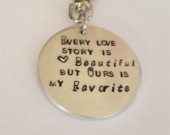 Love Story Keyring // Keyring for Him // Keyring for Her // Great Gift for the one you love //