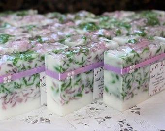 Soap Favors (8) , Bridal Shower Favors, Party Favors, Wedding Favors, Birthday Favors, Full size Favors, Soap Loaf Favor, Custom made favors