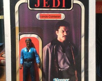 Star Wars Lando Calrissian Figure and Card Return of the Jedi