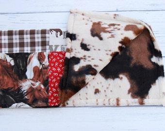 Western baby blanket, western toddler blanket, cowboy baby blabket, nursery blanket, cowboy toddler blanket, cudfle blanket