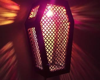 Coffin Sconce, Lantern, Coffin Light, Coffin, Gothic, Gothic Furniture, Sconce, Coffin Furniture, Macabre, Horror, Horror Decor