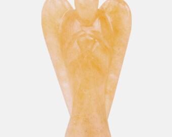 Amazing Natural Orange Aventurine Stone Chakra Stone Gemstone Hand Carved Aura Healing Angel Wings