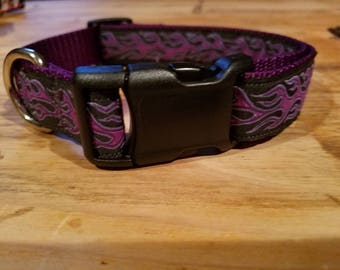 Purple flame Hand Crafted Collar, only a few available.