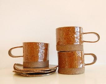 organic shaped mugs / coffee cups