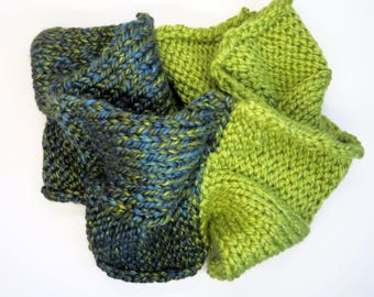 Colour Block Lime Infinity Scarf