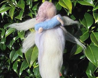 Needle Felted Waldorf Inspired Guardian Angel ' Hasdiel'