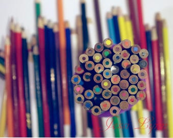 Colorful pencils fine art photography