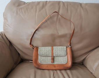 CELINE Vintage suede/leather pouch