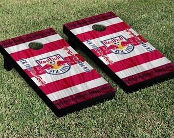 New York Redbulls MLS Cornhole Game Set Scarf Design