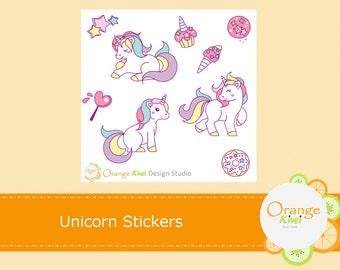 Unicorn Stickers, Unicorn Planner Stickers