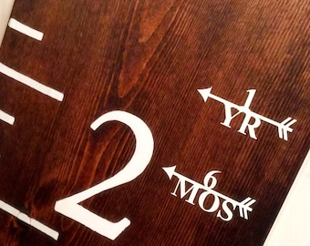 Vinyl Growth Chart Height Marker Arrows - Left or Right facing