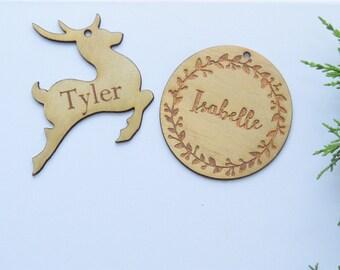 timber christmas tree decoration/ xmas/ decor/ bauble