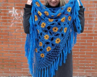 Shawl Vasilok buy shawl crochet woman