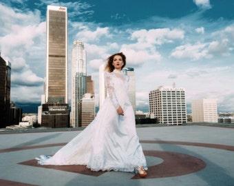 Wedding dress size medium.