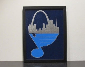 Home and Away - Custom Painted St. Louis - Blues Canvas