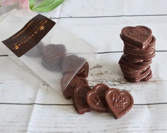 Vegan Chocolate Love Hearts (Gluten & Soya Free), chocolate gifts, birthday gift. Wedding favours