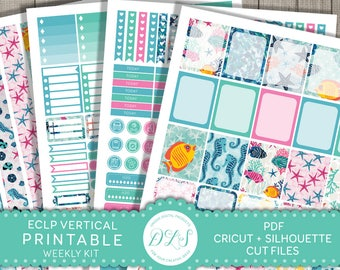 Erin Condren Weekly Planner Kit, Erin Condren Printable Planner Kit, Erin Condren Summer Kit, Weekly Stickers Printable, VS109