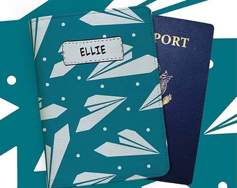 Paperplane - Personalized Passport Cover/Holder - Travel Passport Cover - High Quality Handmade Leather | TG-PPC-452