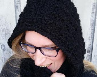 Crochet Pixie Hooded Scarf