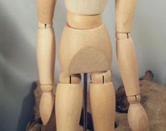 Wooden doll model doll