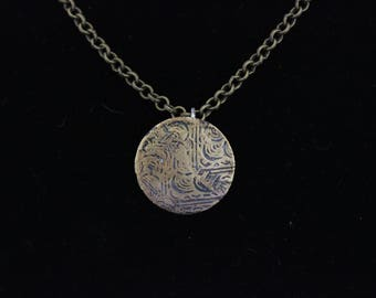 Etched Brass Pendant (05212017-005)