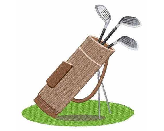 Golf bag machine embroidery design by concordcollections