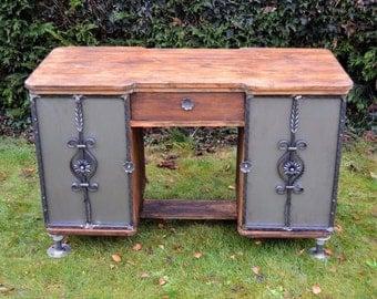 Industrial Rustic Vintage Loft Style Office/ Writing Desk/ Computer Desk
