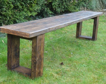 Large Reclaimed Rustic wooden Bench