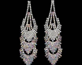 Callie AB Crystal NPC Bikini Fitness Competition Earrings