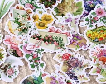 26  - floral garden scrapbooking stickers