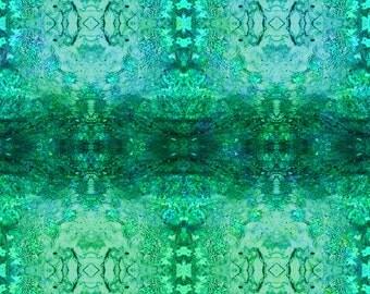 Photomontage Canvas - Oracle Artwork - Turquoise Mandala