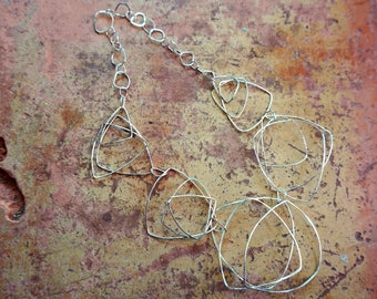 roads that bloom, Argentium Silver Chain Necklace