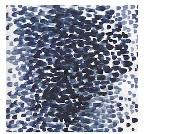 IKEA 2017 STOCKHOLM Check Pattern Blue Fabric /203.452.37/Width 150 cm