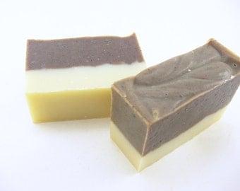 Cinnamon Coffee Soap, Natural Soap, Coconut Oil, Clove, Cocoa, Cold Process, Man Friendly, homemade soap