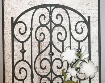 Sympathy Card -- Gate and Lilies