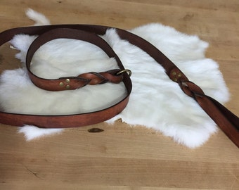 Brown Leather Dog Slip-Lead