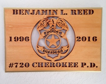 Retired Police Officer Plaque